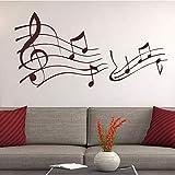 WSLIUXU Décor à la maison Note De Musique Autocollant Mural Pour La Maison Chambre...