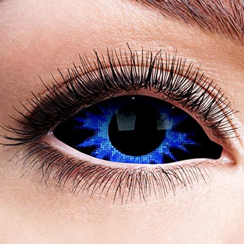 Farbige Kontaktlinsen Blau Motivlinsen Ohne Stärke Rand Thanos Motiv Linsen Halloween Karneval Cosplay Anime Manga Kostüm Sclera 22mm Komplett Blaue Augen Eye Horror Blue Eyes Dunkel Engel