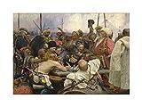 Repin Cossacks Old Master Painting Picture Wall Art Print オールドマスターペインティング画像壁