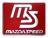 MS マツダスピード 金属ステッカー スクエア レッド