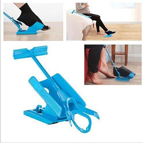 Sockenanzieh und Ausziehhilfe von Easy On Easy Off Sock Slider Aid Helper Leicht Auf Einfach Aus Socke Dressing Und Ausziehen Kit