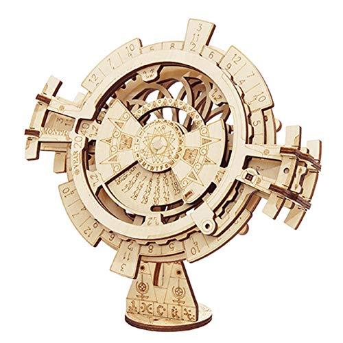 iBaste Perpetual Calendar-3D-Holzbausatz - 3D Holzpuzzle Ewiger Kalender Holz Handwerk Spielzeug Baukasten