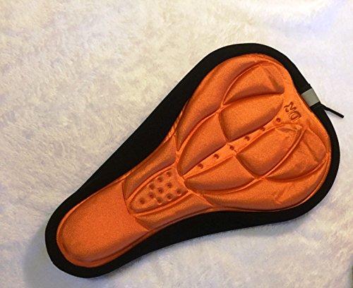 CarbonEnmy Gel 3D Fahrrad Sattel Bezug Satteldecke Sattelschutz Polster (Orange)
