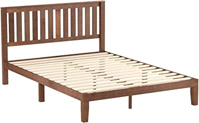 Amazon Com Best Price Mattress 12 Classic Soild Wood Platform Bed