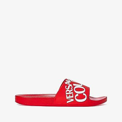 Versace Jeans Couture Logo Slide Sandal (Red/White) Men