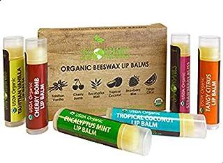 USDA Organic Lip Balm by Sky Organics, 6 Pack