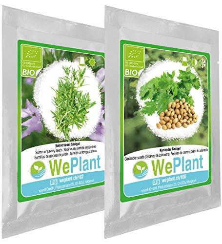 BIO Bohnenkraut & Koriander Pflanzen-Samen Set - indoor/outdoor