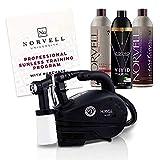 Norvell Sunless Kit - M1000 Mobile HVLP Spray Tan Airbrush Machine + 8 oz Tanning Solutions in Ultra Vivid...