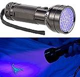 Lunartec UV Lampe: 2in1-UV-Taschenlampe und Geldscheinprüfer, 51 LEDs und Batteriebetrieb (Schwarzlicht Taschenlampe)