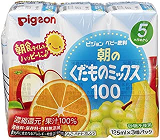 Pigeon Baby Juice Mixed Fruit 100% 125ml, Pack of 3