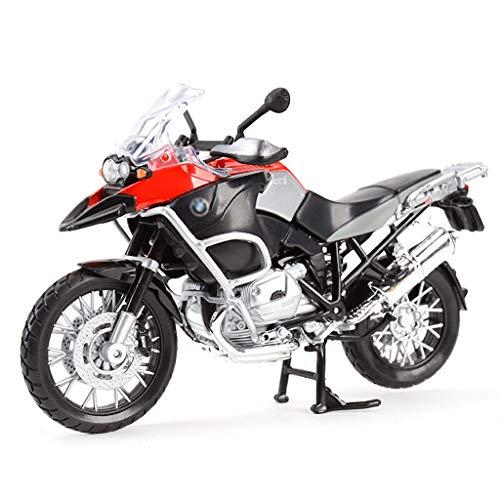 Escala 1:12 de fundición a presión Modelo de la Motocicleta/Compatible con BMW R 1200 GS/estático Modelo de la aleación de la Motocicleta Modelo de simulación de la Motocicleta (Color : Red)