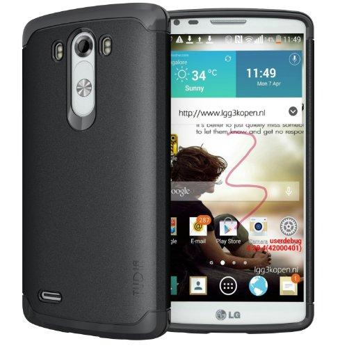 TUDIA LITE TPU Bumper Protective Case for LG G3 (2014) (Black)