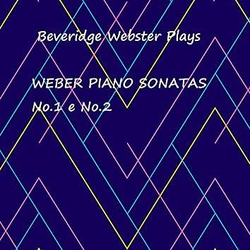 Weber Piano Sonatas, No. 1 e No. 2