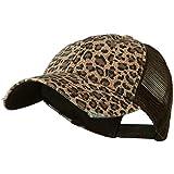 Wholesale Low Profile Soft Structured Canvas Leopard Print Cap (Brown) - 22065