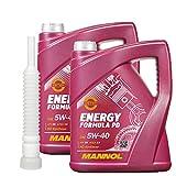 2x5 Liter MANNOL Energy Formula PD 5W-40 API SN ink.Auslaufshlauch