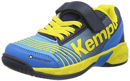 Kempa Unisex-Kinder Attack Handballschuhe, Mehrfarbig (Kempableu/Bl Marine/Jaune), 28 EU
