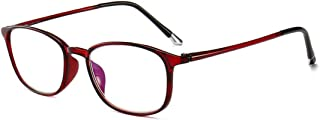 Aiweijia TR90 Anti Blue Reading Glasses Ultralight Reading glasses with case