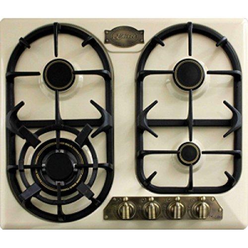 Kaiser Empire kg 6325 ElfEm Ivory Plaque Gaz / de cuisson 60cm nouveauté/Plaque de Cuisson Gaz/ 3,8 kW Brûleurs WOK/Gaz propane/gaz naturel /Gaz Plaque Cuisson Gaz 60 cm