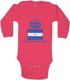 Baby Long Sleeve Bodysuit Nicaraguan King Crown Countries Boy & Girl Clothes