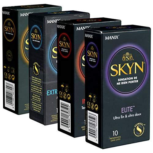 Der latexfreie SKYN-Pack - 4 Sorten Manix SKYN - 40 latexfreie Kondome
