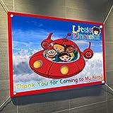 Little Einsteins Banner Large Vinyl Indoor or Outdoor Banner Sign Poster Backdrop, party favor decoration, 30' x 24', 2.5' x 2'