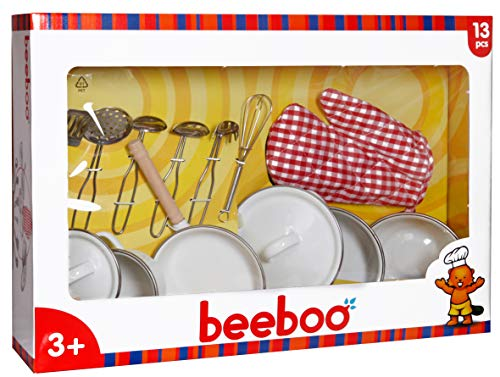 The Toy Company Beeboo Kitchen Set de 13 casseroles