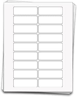 90 Premium Printable Essential Oil Labels for 5 ml Bottles and Vials, 3 x 1 inches, Weatherproof and Waterproof White Vinyl