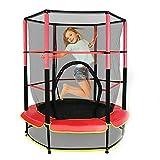 Trampoline de jardin pour enfants - Intérieur et extérieur - Avec filet - Pour le plaisir et le fitness - Pour enfants - Charge maximale : 50 kg - Diamètre : 140 cm