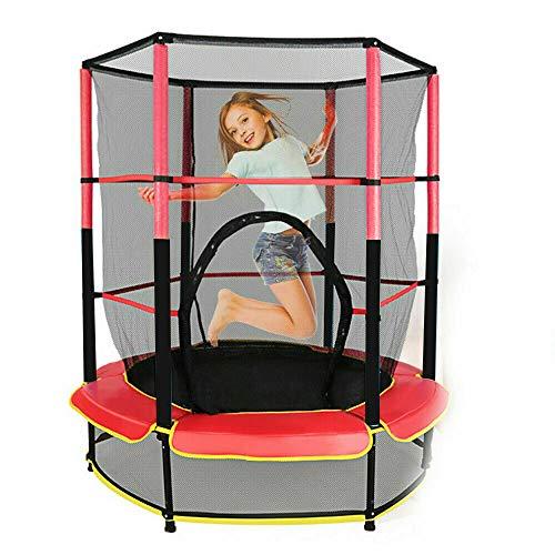 Gartentrampolin,140cm Trampolin Kindertrampolin 50kg Kindertrampolin Trampolin-Komplettset mit Sprungmatte &...