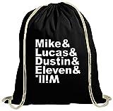 ShirtStreet Mystery natur Turnbeutel mit Mike Lucas Dustin Eleven Will Motiv, Größe:...