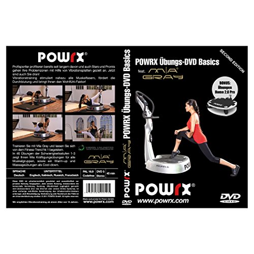 POWRX Vibrationstrainings Übungs-DVD Basics - Vibrationsplatte - Vibration Plate Mia Gray