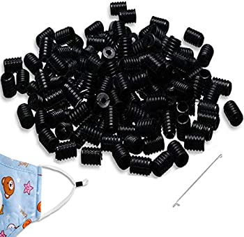 200-Piece Mural Wall Art Cord Locks for Face Masks with Threade
