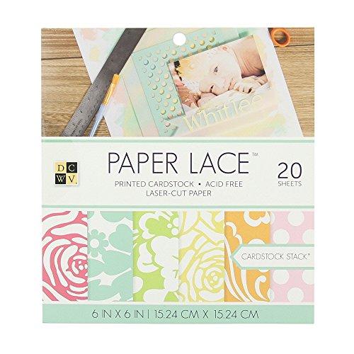 DCWV Paper Lace Stack de Papeles 15x15cm -