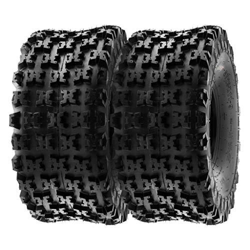 SunF A027 22x10-10 22x10x10 XC ATV UTV Reifen Sportreifen Stollenreifen mit Straßenzulassung 6PR TL 47F E Prüfzeichen, Satz von 2 Stück