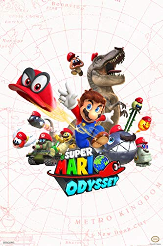 Pyramid America Super Mario Odyssey Map Video Game Gaming Cool Wall Decor...