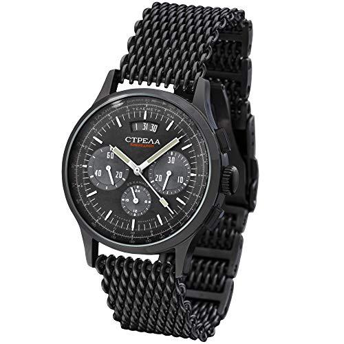 STRELA Poljot Chronograph 31681 24 h Anzeige KOSMODROM Weltraum russisch mechanische Uhr
