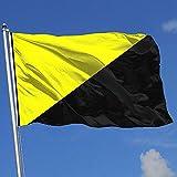 wallxxj Fahne Anarcho-Kapitalismus Flaggenbanner Mit Ösen Polyesterdruck Yard Flag Holiday Yard Banner Hausflagge Lebendig 150X90Cm
