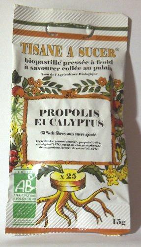Biopastilles - Zu lutschenden Pastillen Bienenharz und Eukalyptusus Biologisch - 25 Pastillen