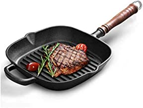 WZHZJ Frying Pan, Pre-Seasoned Grill Pan,with Easy Grease Draining for Grilling Bacon, Steak, and Meats,Can Be Used to Dra...