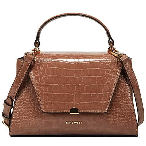 Nine West Women's Ridgewood Top Handle Flap Top Handle Bag, Braun - Pecan. - Größe: Medium