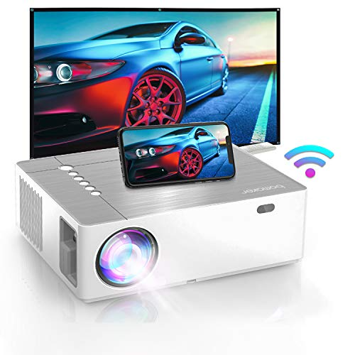 BOMAKER Native 1920 x1080p Projector, 4K Supported, 6D ±50° X/Y Keystone and ±50% Zoom Out, Full HD Outdoor Movie Projector, 300 ANSI Lumen, Compatible for TV Stick, Android, HDMI, PCs, PS5