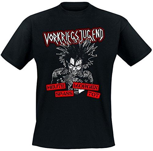 Vorkriegsjugend – Heute Spass Morgen Tot, T-Shirt, schwarz, Grösse XXL