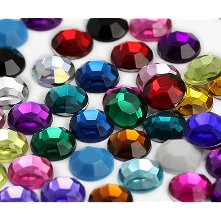 Royee 300 Pcs Acrylic Rhinestones Colorful Different Random Shape Small Color Gems Flatback Embellishments for Art Craft DIY Project Decoration Favor