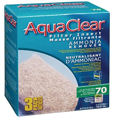 Aquaclear 70-Gallon Ammonia Remover, 3-Pack 36.6oz