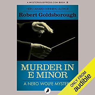 Murder in E Minor audiobook cover art