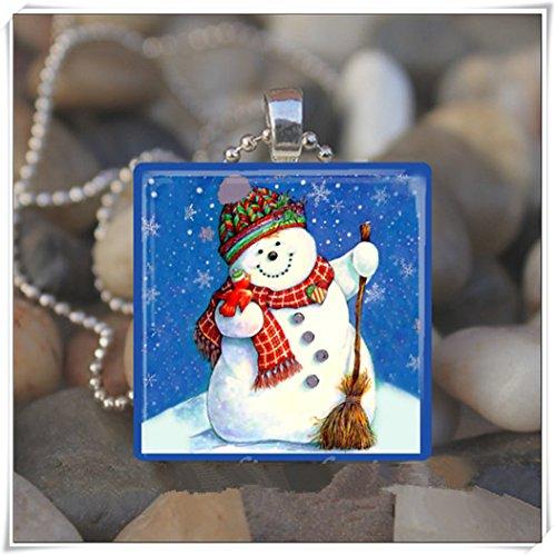 Cutie de Navidad Invierno Copo De Nieve Colgante, collares, joyas de cristal de arte puro hecho a mano