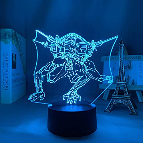 3D Anime Lights Ilusión Led Luz Ataque Sobre Titán Cochecito Titán Dormitorio Decoración Luz Regalo de Cumpleaños Infantil Comic Ataque Titan Noche Control Remoto