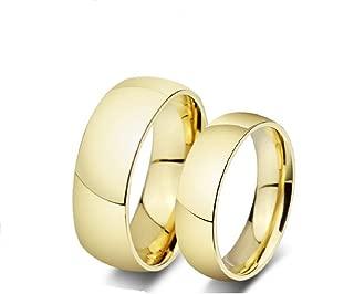 Los Nuevos Anillos Amante Oro Titanio Anillos De Compromiso Anillos De Boda Al Por Mayor De R-012 (Female, 8)