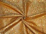 Brokat-Stoff, schwer, Kurkuma-Gelb x Metallic-Gold, 91,4 cm