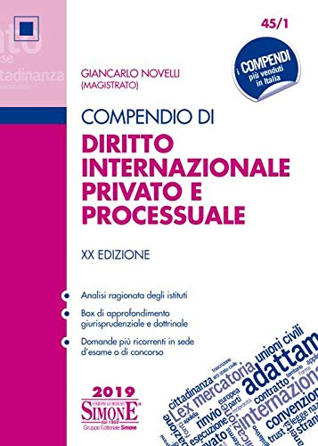 Compendio di diritto internazionale privato e processuale